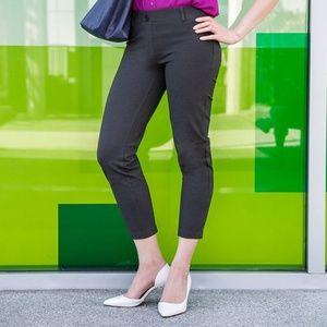 Betabrand Charcoal Crop Yoga Dress Pant
